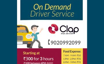 On Demand Driver Service by 'Clap'