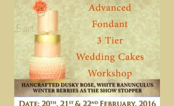 Advance Fondant 3 Tiered Wedding Cakes Workshop