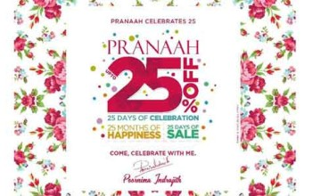 25% off at Pranaah !