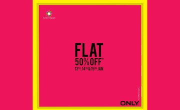 Get Flat 50% Off at Only