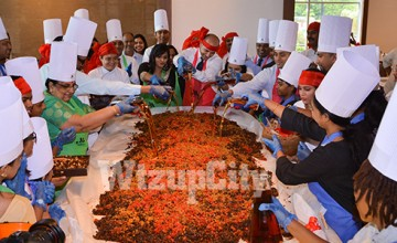 Cake Mixing at Marriott Hotel