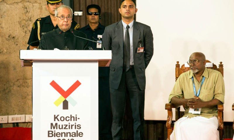 Pranab Mukherjee makes first-ever Presidential visit to Biennale