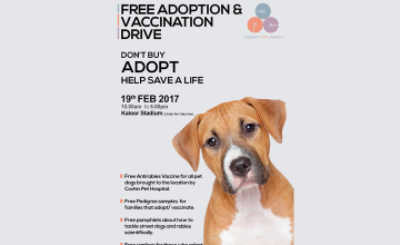 Free Adoption and Vaccination Drive
