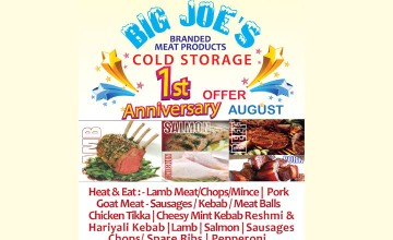 Big Joe's Anniversary Offer