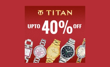 Upto 40% Off at Titan