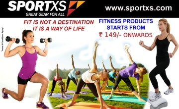 Fitness Products @ Rs.149/- onwards at Sports XS