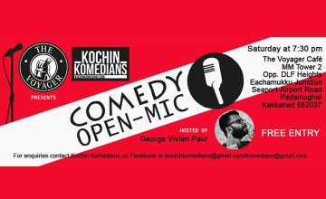 The Voyager Café presents Kochin Komedians Open mic