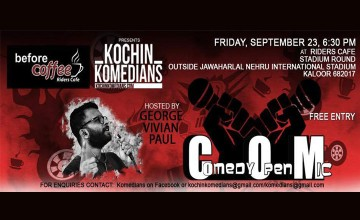 Before Coffee presents Kochin Komedians Open mic