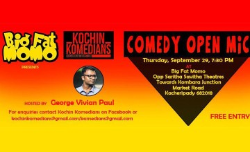 Big Fat Momo presents Kochin Komedians Open Mic