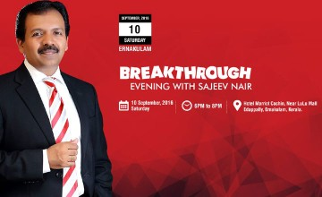Breakthrough evening with Sajeev Nair