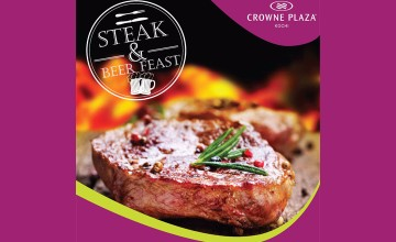 Enjoy the Best Steak in Town at Crowne Plaza