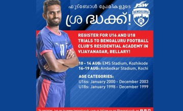 Bengaluru FC U16 and U18 Registration
