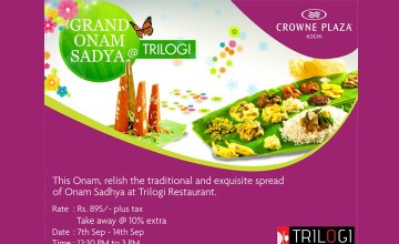 Grand Onam Sadya at Trilogi-Crowne Plaza