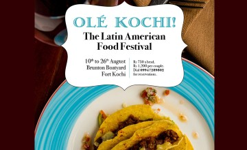 The Latin American food Festival at Brunton boatyard Kochi