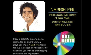 Naresh Iyer Performing Live at Lulu mall