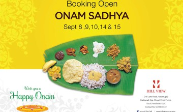Onam Sadya at Hill view Kochi