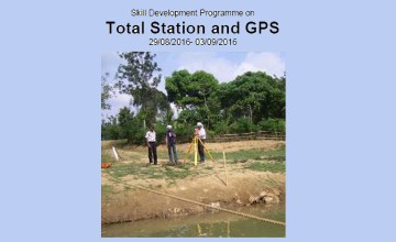 Skill Development Program on SDP on Total Station and GPS